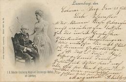 Pionnière 1902 Adelaide Et Adolphe 1  Edit Bernhoeft 39  Cachet Train Bettingen Ettelbruck - Familia Real