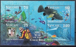 Vanuatu 1997 Diving + MS MNH CV £8.25 (2 Scans) - Fishes