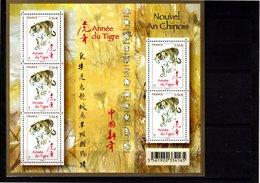 Feuillets N° F4433 **--Année Du Tigre--2010-- Timbre N° 4433 X 5 - Neufs