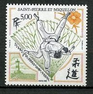 SPM MIQUELON 1989 N° 498 ** Neuf MNH Superbe C 2,60 € Sports Judo Phare Fleurs Flowers Light House Jidokas évantail - St.Pierre Et Miquelon