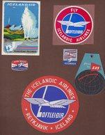 ISLAND : LOFTLEIDIR . - Étiquettes à Bagages