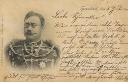 Pionnière 1902 S.K.H. Erbgrossherzog Wilhelm    Edit Bernhoeft 44  Cachet Train Bettingen Ettelbruck - Famille Grand-Ducale