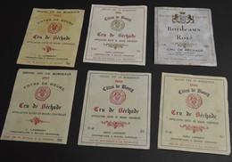 6 Etiquettes Cotes De Bourg - Bordeaux