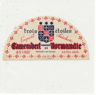 V 219 / ETIQUETTE DE FROMAGE DEMI -   CAMEMBERT  TROIS ETOILES   14 V. - Quesos