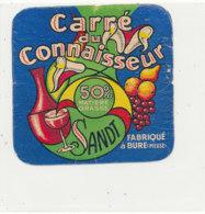 V 227 / ETIQUETTE DE FROMAGE CARRE DU CONNAISSEUR  FAB A BURE (MEUSE) - Quesos