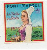 V 237 / ETIQUETTE DE FROMAGE    PONT L'EVEQUE LA BELLE DES PRES FAB EN NORMANDIE 76 E. - Quesos