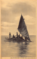 R190349 An Outrigger Canoe. Fiji. Caines Studio Suva - Postcards