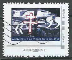 France Personnalisé Montimbramoi LETTRE VERTE 20g Appel Du 18 Juin 1940 Oblitéré ° - Personalizzati (MonTimbraMoi)