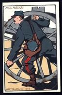 CP 3- CPA FRANCE- MILITARIA- NOS HÉROS- ARTILLEUR 1915- ILLUSTRATION EN AQUARELLATYPIE - Patriotiques