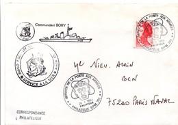 Aviso-escorteur Commandant Bory - Tahiti 1984 - BPM 701 Bureau Philatélique - Poste Aux Armées Pacifique - Totem Atome - Marcophilie (Lettres)