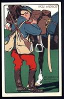 CP 3- CPA FRANCE- MILITARIA- NOS HÉROS- CHASSEUR A CHEVAL 1915- ILLUSTRATION EN AQUARELLATYPIE - Patriotiques