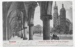 (RECTO / VERSO) KRAKOW EN 1904 - KOSCIOT N. PANNY MARYI OD STRONY SUKENNIC - BEAU TIMBRE - CPA VOYAGEE - Pologne
