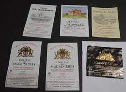 6 Etiquettes Premieres Cotes De Castillon - Bordeaux