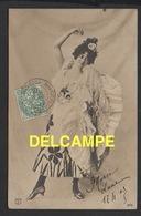 """DF / FANTAISIE / FEMMES / JEUNE FEMME EN """" DANSEUSE ESPAGNOLE """" / 1903 - Women"""