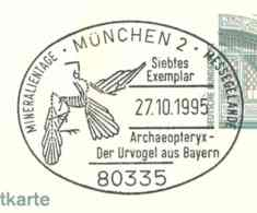924  Archaeopteryx: Oblit. D'Allemagne, 1995 -  Feathered Dinosaur Prehistory Préhistoire Dinosaure à Plumes Oiseau Bird - Sellos