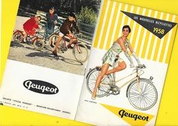 """Catalogue 1958 Cycles """"PEUGEOT"""" 8 Pages Format 13 X 21 Cm Env.. - Cyclisme"""