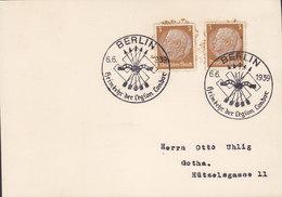 """Germany Deutsches Reich Sonderstempel Propaganda BERLIN """"Heimkehr Der Legion Condor""""  6.6. 1939 Card Karte - Briefe U. Dokumente"""