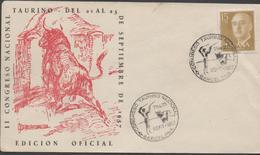 3390  Carta Barcelona 1959,Congreso Nacional Taurino , Toros, - 1951-60 Cartas