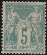 France  .    Yvert  .    102     .  *   .     Neuf Avec Charniere  .   /   .  Mint-hinged - 1898-1900 Sage (Type III)