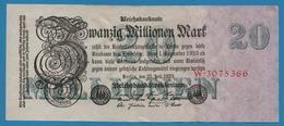 DEUTSCHES REICH 20 Millionen Mark  25.07.1923 Serial# No W.3075366 KM# 97a - 20 Millionen Mark