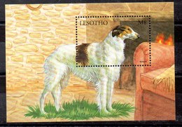 Hoja Bloque De Lesotho N ºYvert 145 ** PERROS (DOG) - Lesotho (1966-...)
