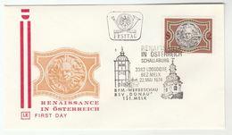 1974 Special  FDC RENNAISANCE Pmk MELK ABBEY, SCHALLABURG CASTLE Austria Stamps Loosdorf Cover Church Religion - FDC