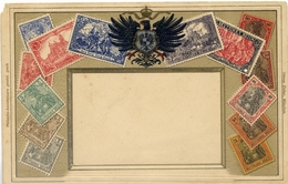 X742-Germany-Ottmar Zieher Embossed Stamp Postcard, Nº 46 - Unused. - Timbres (représentations)