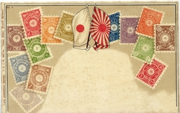 X743-Japan-Ottmar Zieher Stamp Postcard, Nº 4-Unused - Timbres (représentations)