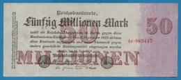 DEUTSCHES REICH 50 Millionen Mark  25.07.1923 Serial# No 4P.083447 KM# 98a - [ 3] 1918-1933: Weimarrepubliek