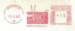 AP97   Italia, Italy 1962  Red Meter, EMA Freistempel - Vides Cinematografica - Roma - Affrancature Meccaniche Rosse (EMA)