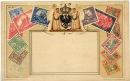 X744-Germany-Brunswick-Ottmar Zieher Stamp Postcard, Nº 11 - Unused. - Stamps (pictures)