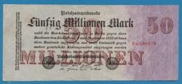 DEUTSCHES REICH 50 Millionen Mark  25.07.1923 Serial# No 6M.500079 KM# 98a - [ 3] 1918-1933: Weimarrepubliek