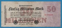 DEUTSCHES REICH 50 Millionen Mark  25.07.1923 Serial# No 8A.015808 KM# 98a - [ 3] 1918-1933: Weimarrepubliek