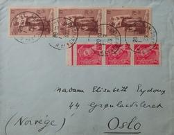 R1947/80 - 1939 - Bande De 3t N°406 + N°447 Sur ✉️ De PARIS (FRANCE) à OSLO (NORVEGE) Du 1er AOÛT 1939 - France
