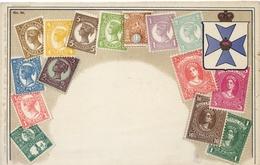 X749-Queensland-Ottmar Zieher Stamp Postcard, Nº 50-Unused. - Stamps (pictures)