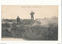 LANDES AU DANS LES LANDES CHARBONNIERES EN FEU CPA BON ETAT - Frankreich