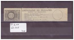 BELGIQUE No COB RT 1a ** ( SANS CHARNIERE ) - COTE: 220 € - Telegraafzegels