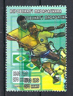 1998 Madagascar MNH - France FIFA World Cup Football Soccer - Brazil Brésil - Error Erreur - 1998 – France