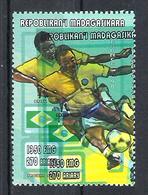 1998 Madagascar MNH - France FIFA World Cup Football Soccer - Brazil Brésil - Error Erreur - World Cup