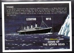 Hoja Bloque De Lesotho N ºYvert 157A ** BARCOS (SHIPS) - Lesotho (1966-...)