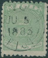 Fiji 1881 SG40 2d Yellow-green Crown And VR P10 FU - Fidji (1970-...)