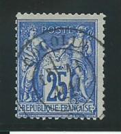 FRANCE: Obl., N° YT 78e, T.II, Outremer Vif,TB - 1876-1898 Sage (Type II)