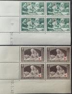 R1947/82 - 1940 - CROIX ROUGE - N°459 à 460 BLOCS NEUFS** CdF Datés - 1940-1949
