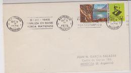 Argentina 1975 Finaliza En Base Aerea Matienzo Ca Dic 9 1975 Cover (42360) - Argentinië