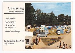 50 Jullouville Les Pins Vers Granville Camping Dr Lemonnier VOIR ZOOM Coupe Simca Aronde Mercedes Peugeot 404 Renault 4L - Granville