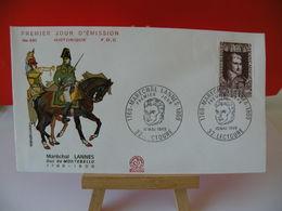 Maréchal Lannes (Duc De Montebello) - 32 Lectoure - 10.5.1969 FDC 1er Jour - Toutes Très Bon état Garantie - 1960-1969