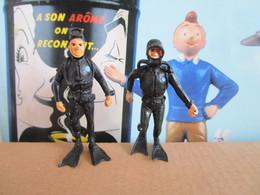 Figurine De Publicité Tintin Milou Esso Belvision Les 2 Plongeurs - Kuifje