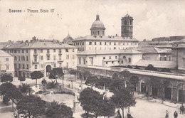 CPA SAVONA (ITALIE) PIAZZA SISTO IV (BEAU CACHET MILITAIRE : COMMANDO MILITARE DI STAZIONE - SAVONA) - Savona