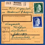 Colis Postal  -  Départ Koschmin --  21/1/1943 - Allemagne