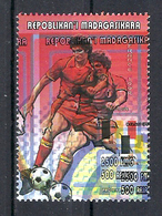 1998 Madagascar MNH - France FIFA World Cup Football Soccer - Belgium Belgique - Error Erreur - World Cup